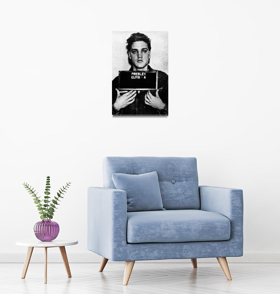 """Elvis Presley Mug Shot Vertical 1""  (2016) by RubinoFineArt"