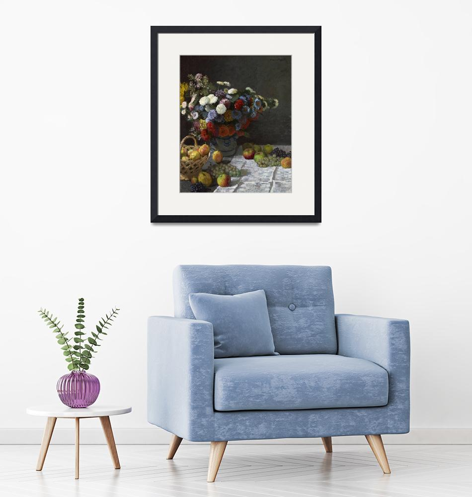"""Still Life with Flowers and Fruit by Claude Monet""  by FineArtClassics"