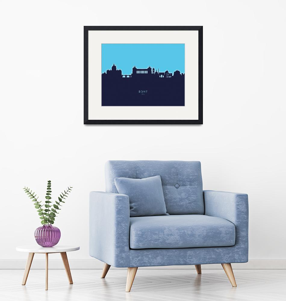 """Rome Italy Skyline""  (2020) by ModernArtPrints"