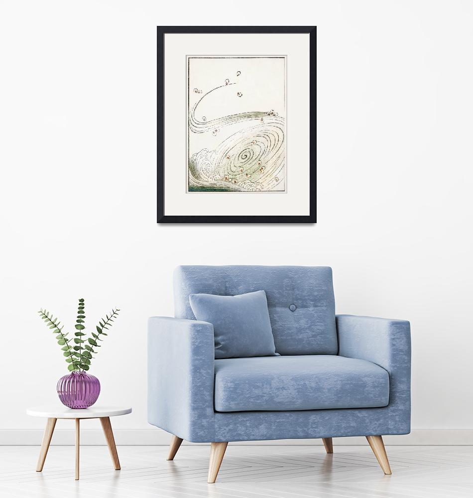 """""""Wind and Flower Illustration by Watanabe Seitei""""  by FineArtClassics"""