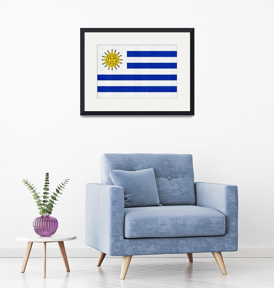 """""""Flag of Uruguay ,  County Flag Painting ca 2020 by""""  by motionage"""
