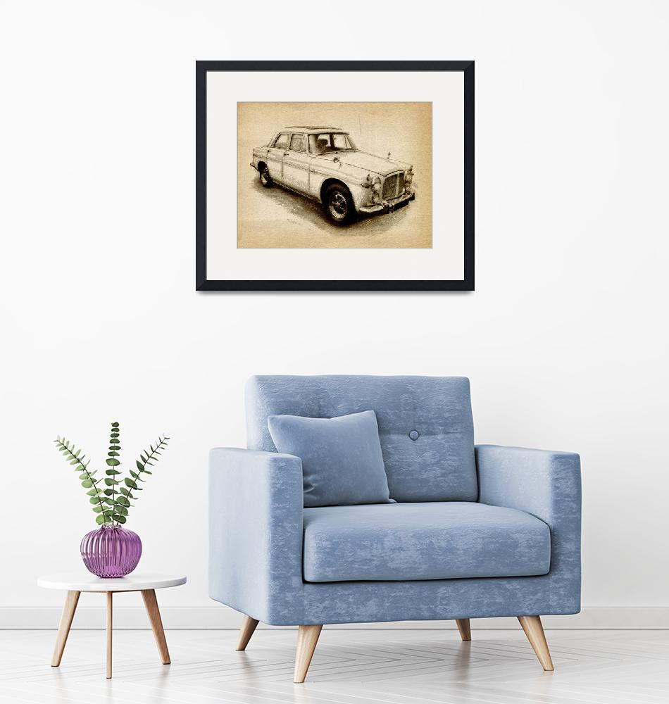 """Rover P5 1968""  (2010) by ModernArtPrints"
