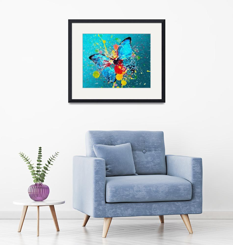 """""""A COLOR BLAST A BUTTERFLY""""  (2006) by Big88artworks"""