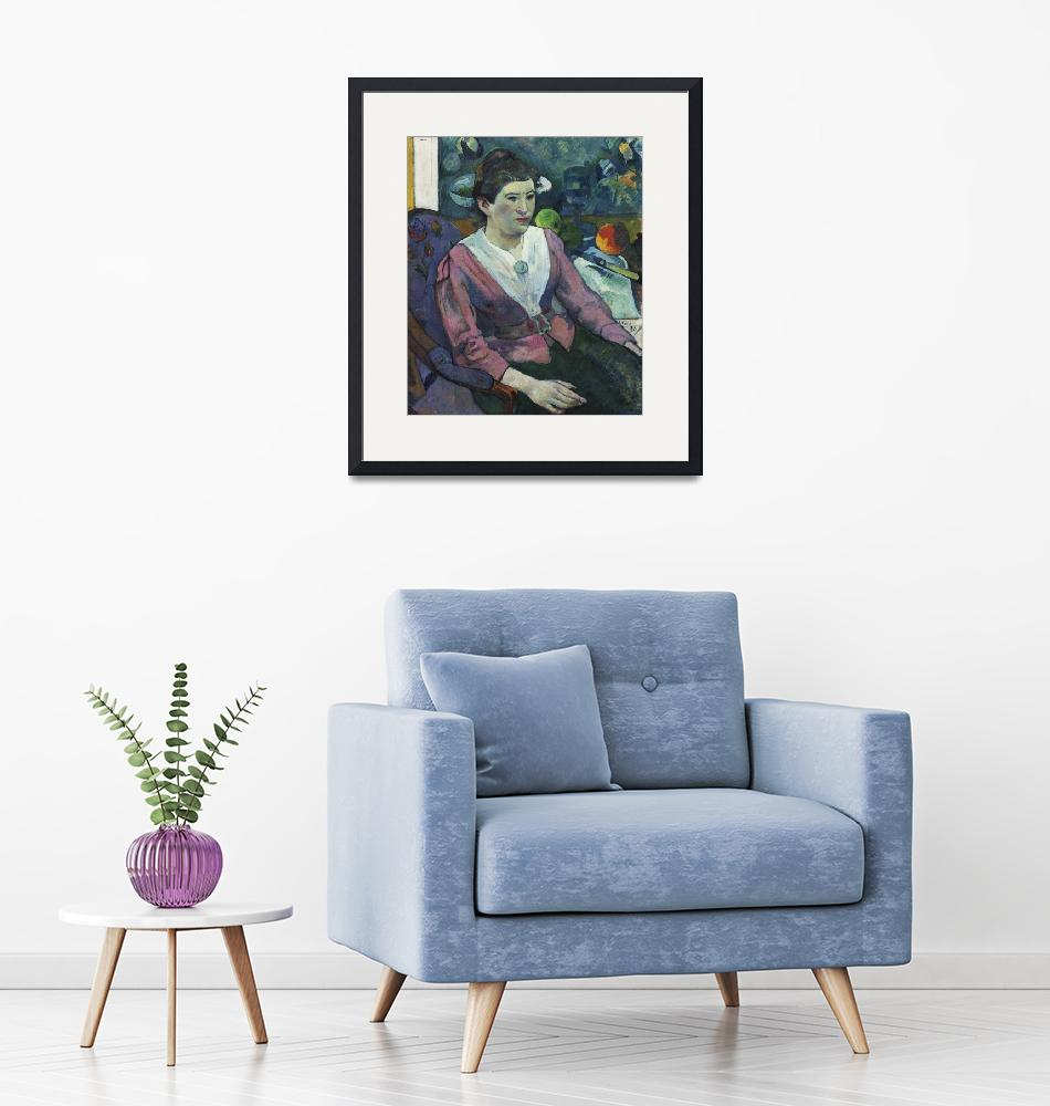 """""""Woman with Still Life by Cézanne by Paul Gauguin""""  by FineArtClassics"""