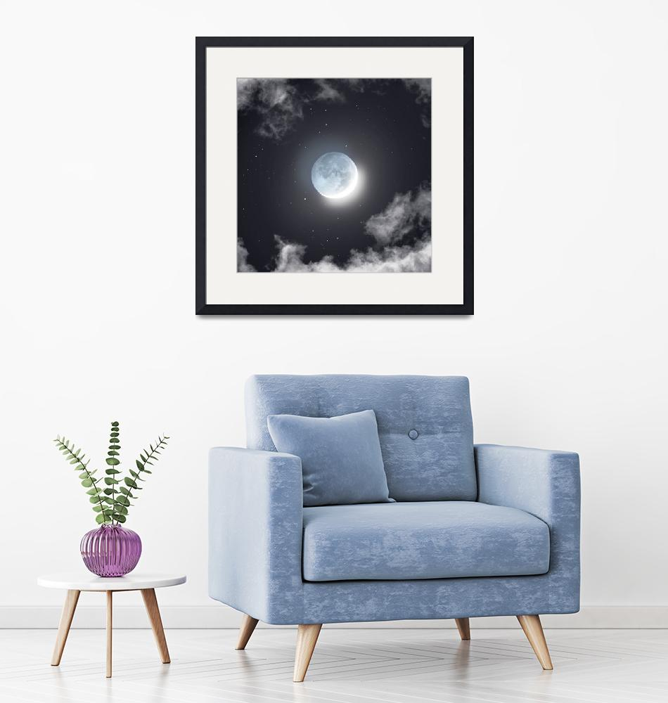"""""""Earthshine & Clouds"""" by cosmic_background"""
