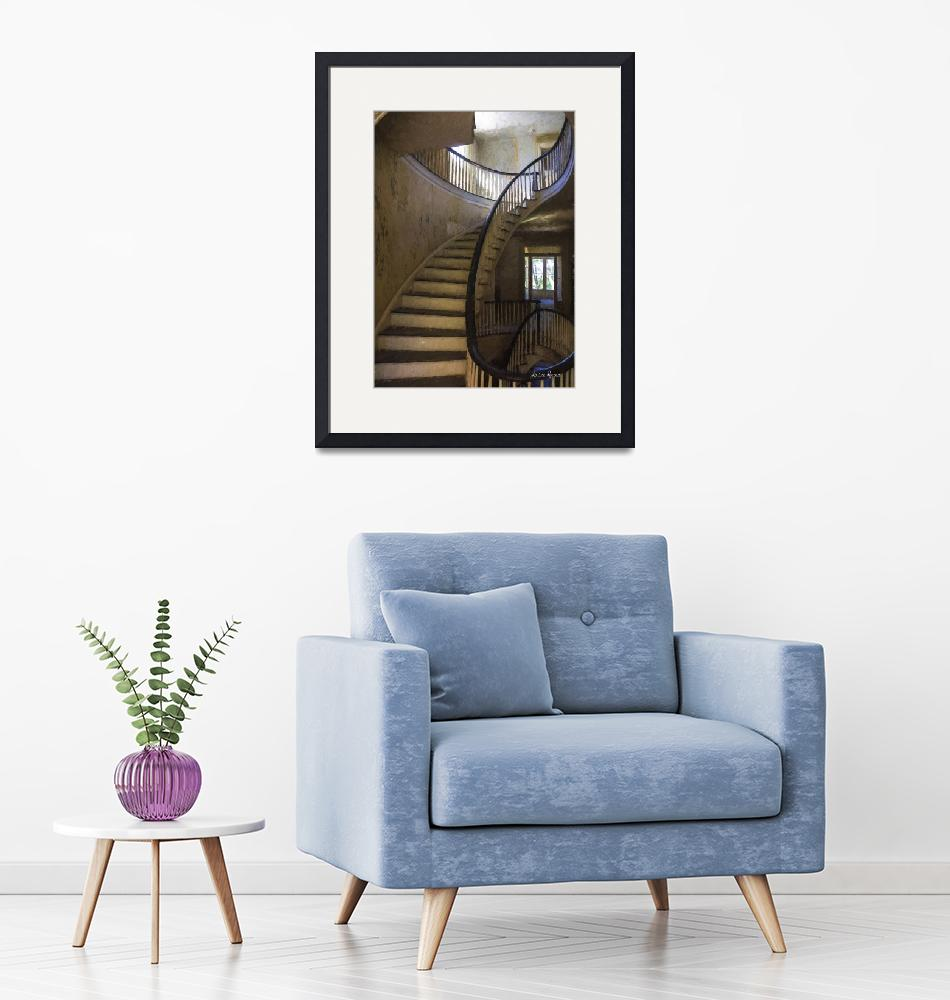 """Winding Staircase""  (2016) by LouiseReeves"