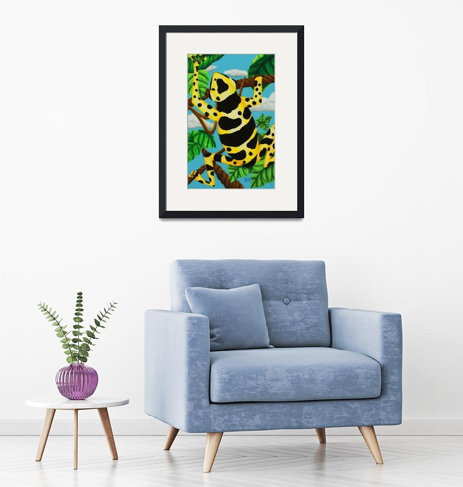 """Yellow Banded Dart Frog""  (1998) by SamanthasArtStudio"