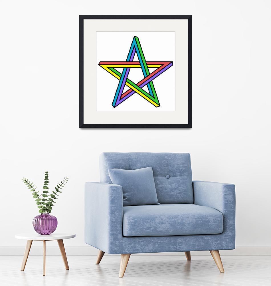 """""""illusion Star""""  (2019) by Icarusismart"""