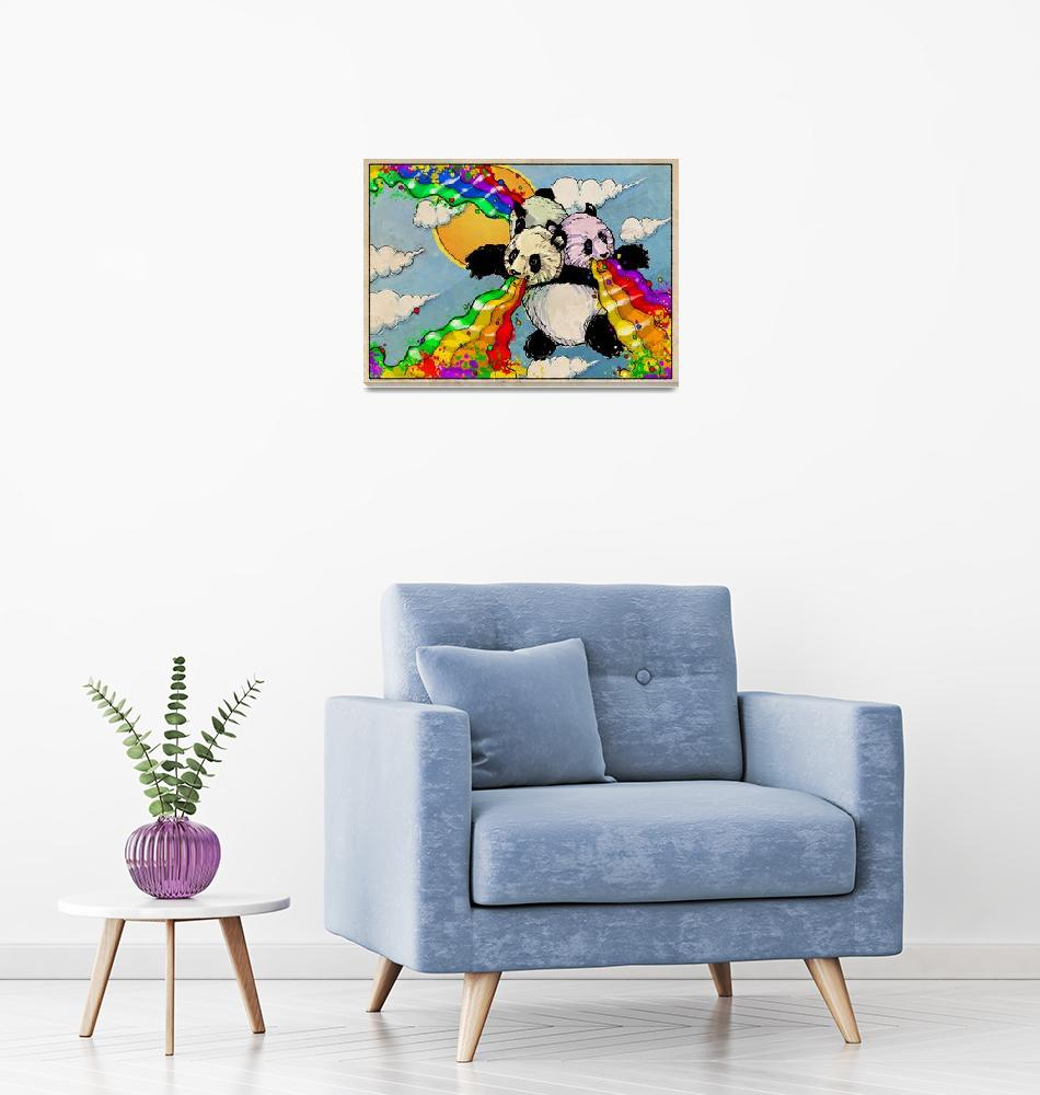 """The Rainbow Vomiting Pandas Of Interestingness""  (2009) by poprelics"