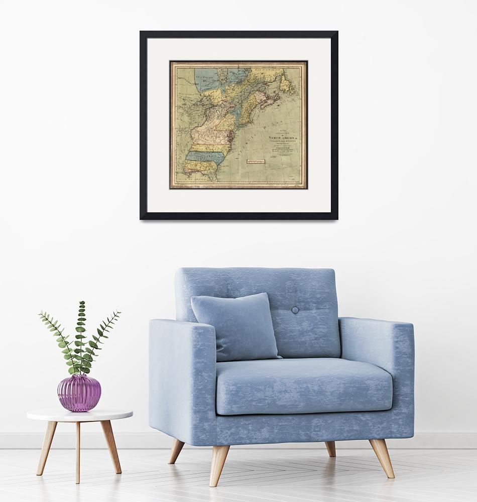 """Vintage Discovery Map of The Americas (1771)""  by Alleycatshirts"