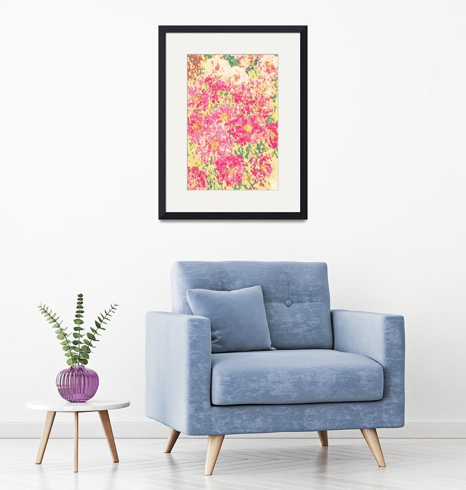 """""""Pink floral abstract"""" (2021) by gavila"""