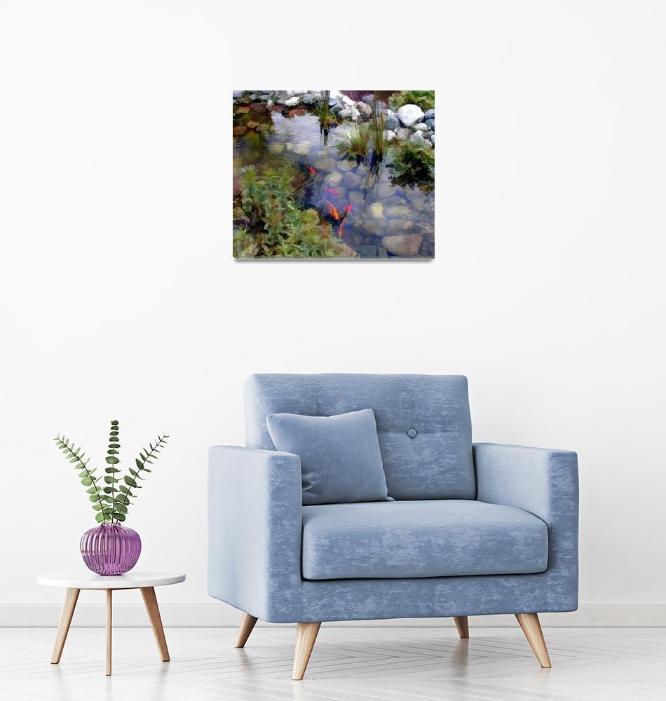"""""""Koi in Garden Pond""""  by ElainePlesser"""