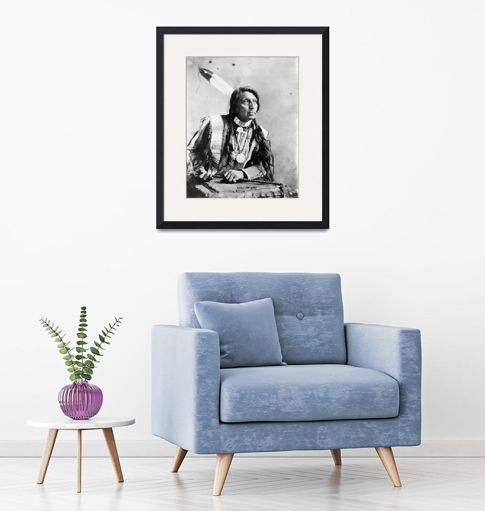 """""""Vintage Chief Red Shirt Native American Photograph"""" by PDGraphics"""
