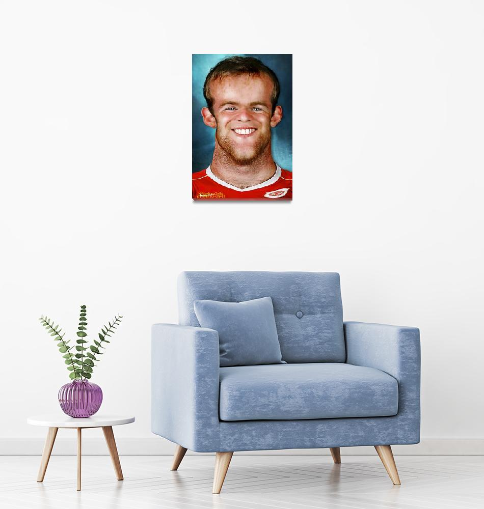 """Wayne Rooney""  (2011) by noedieartwork"