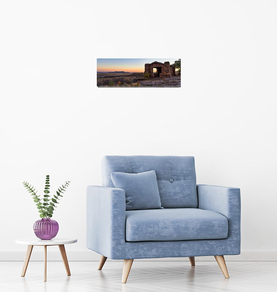"""Fort Davis Mountain Sunset Overlook Pano""  by beecreekphotography"