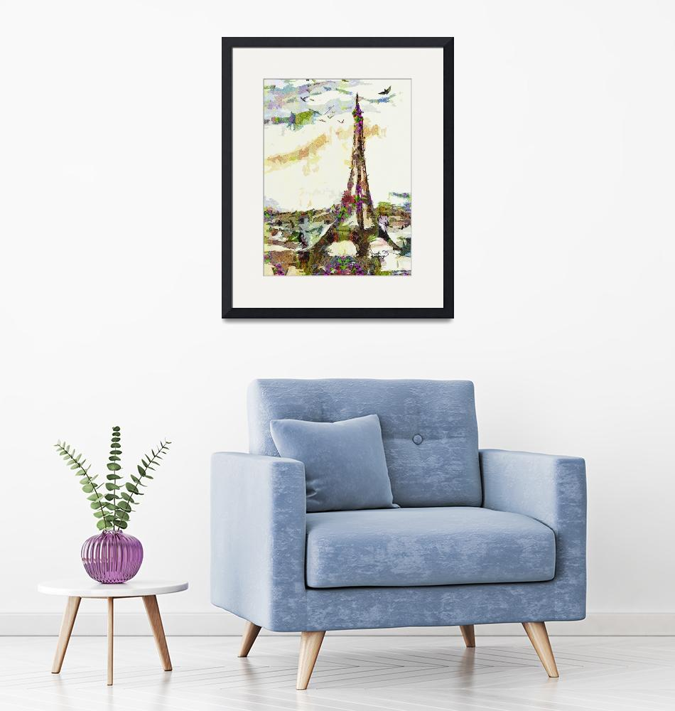 """Paris France In Spring Modern Decorative""  (2014) by GinetteCallaway"