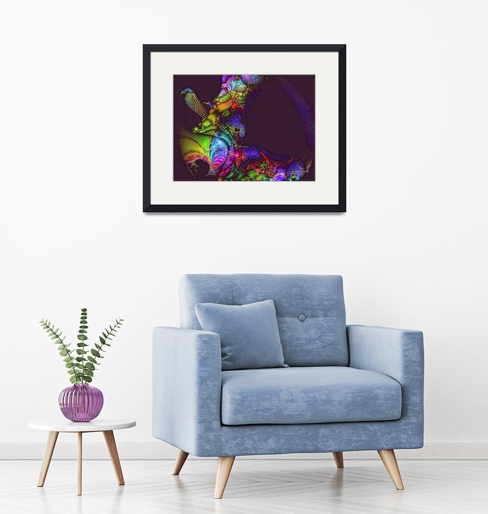 """""""Bird of Paradise in Purples and Multicolor""""  (2016) by artbyclaire"""