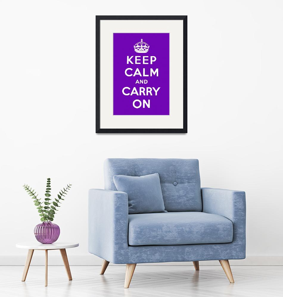 """""""Purple Keep Calm And Carry On 6""""  by oldies"""