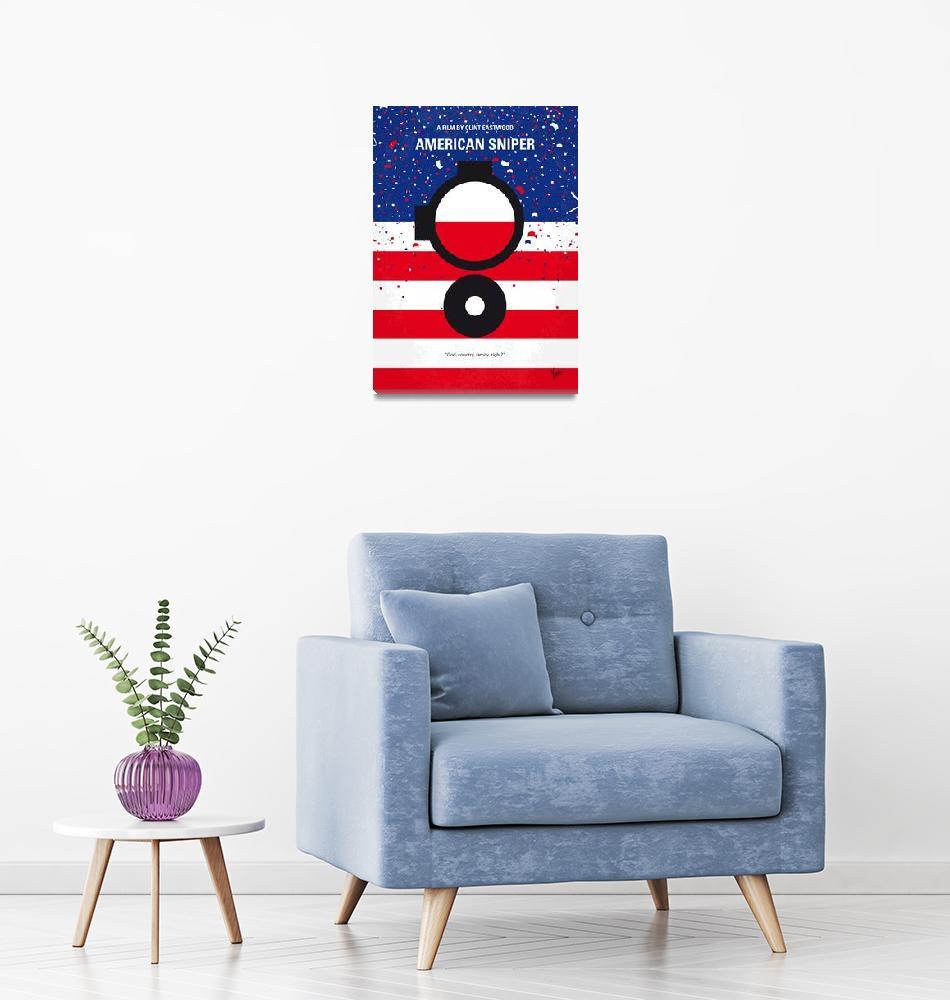 """No435 My American Sniper minimal movie poster""  by Chungkong"