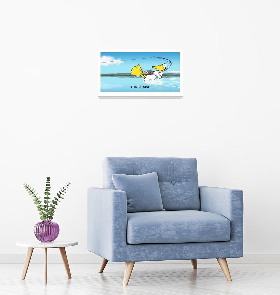 """The Fishing Duck""  (2012) by johnbaron"