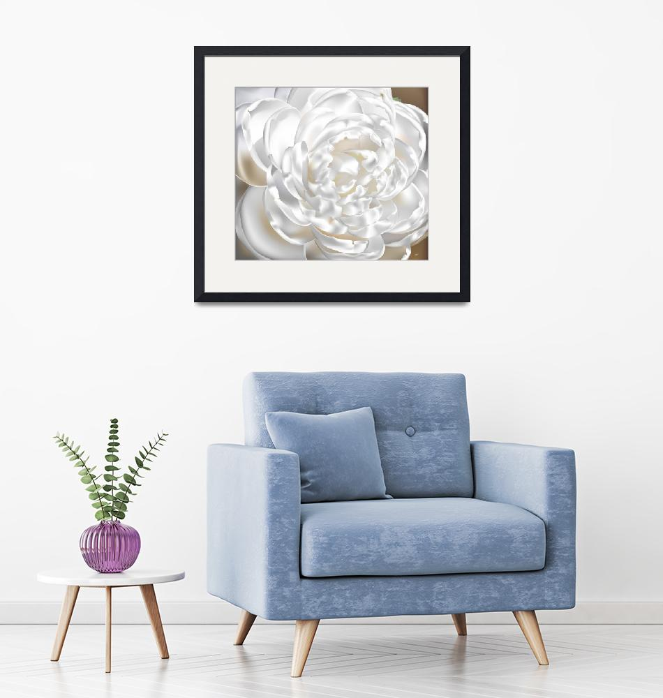 """""""Camellia Flower White""""  (2012) by AnneSoule"""