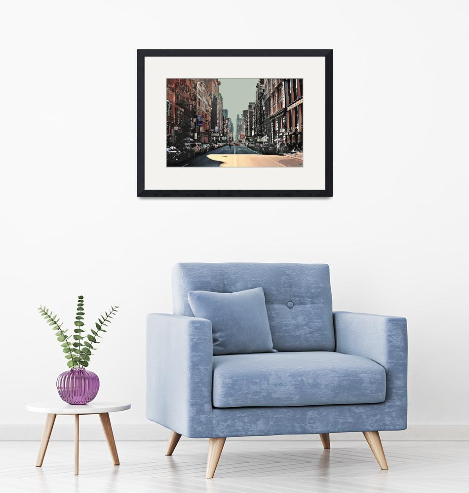 """""""New York City Street in Muted Colors""""  (2018) by ElainePlesser"""