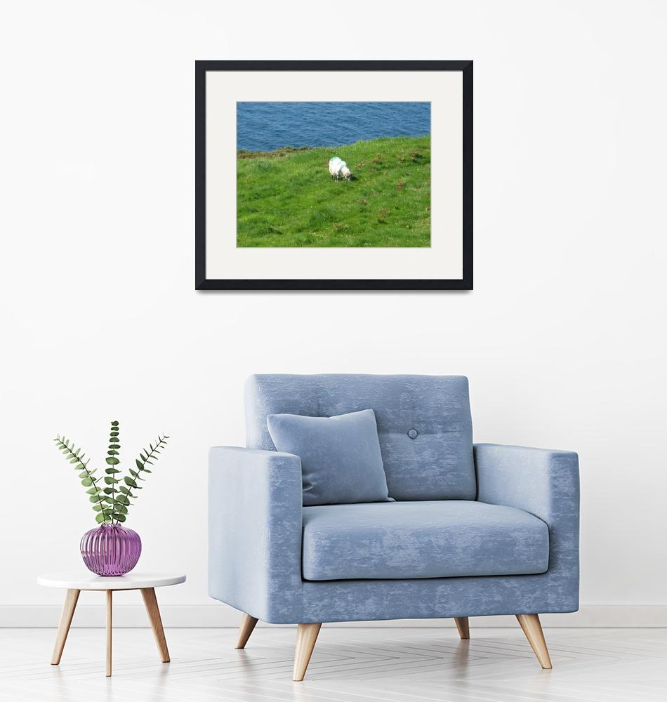 """Irish sheep on a hillside""  (2010) by DAL423photos"