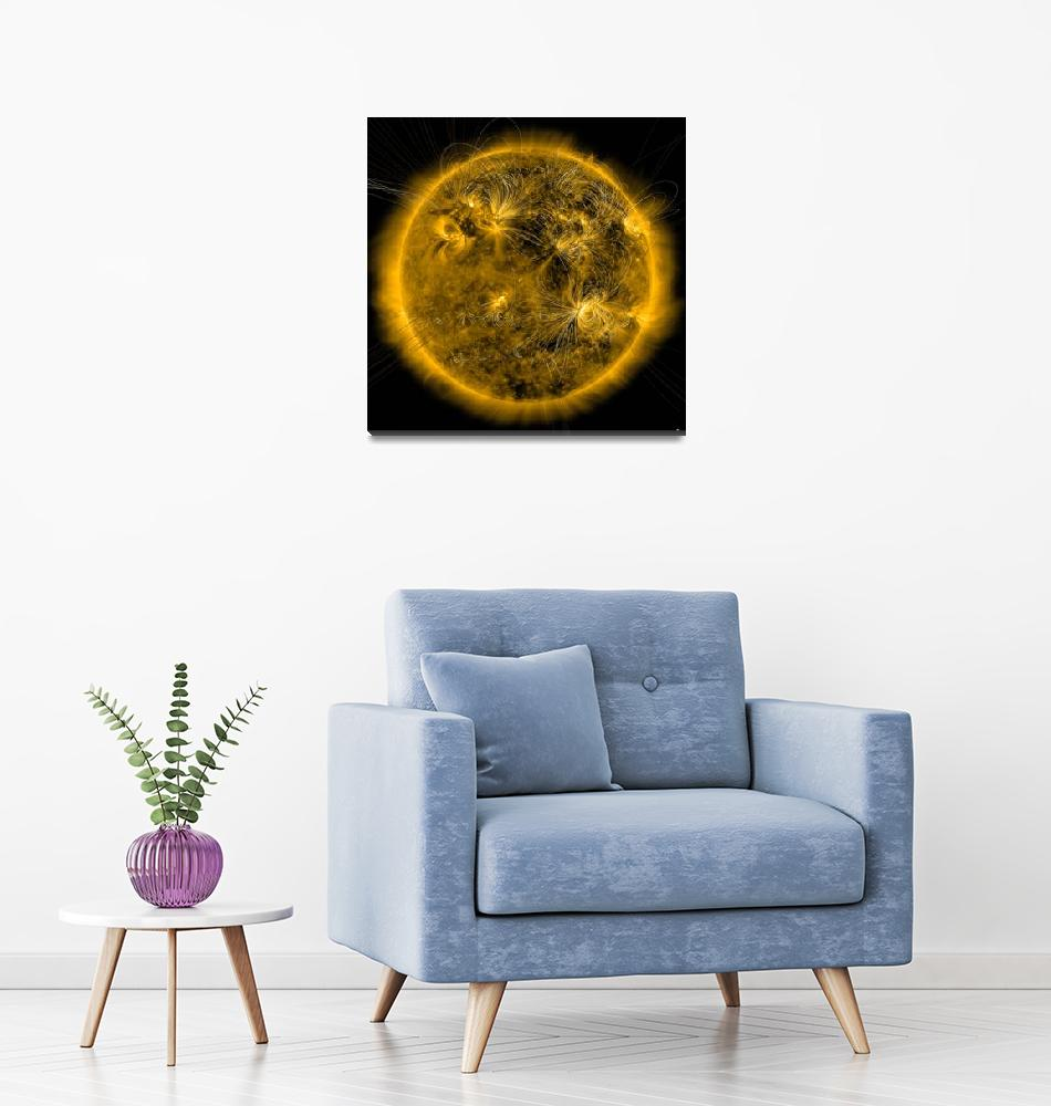 """""""Magnetic field lines on the Sun""""  by stocktrekimages"""