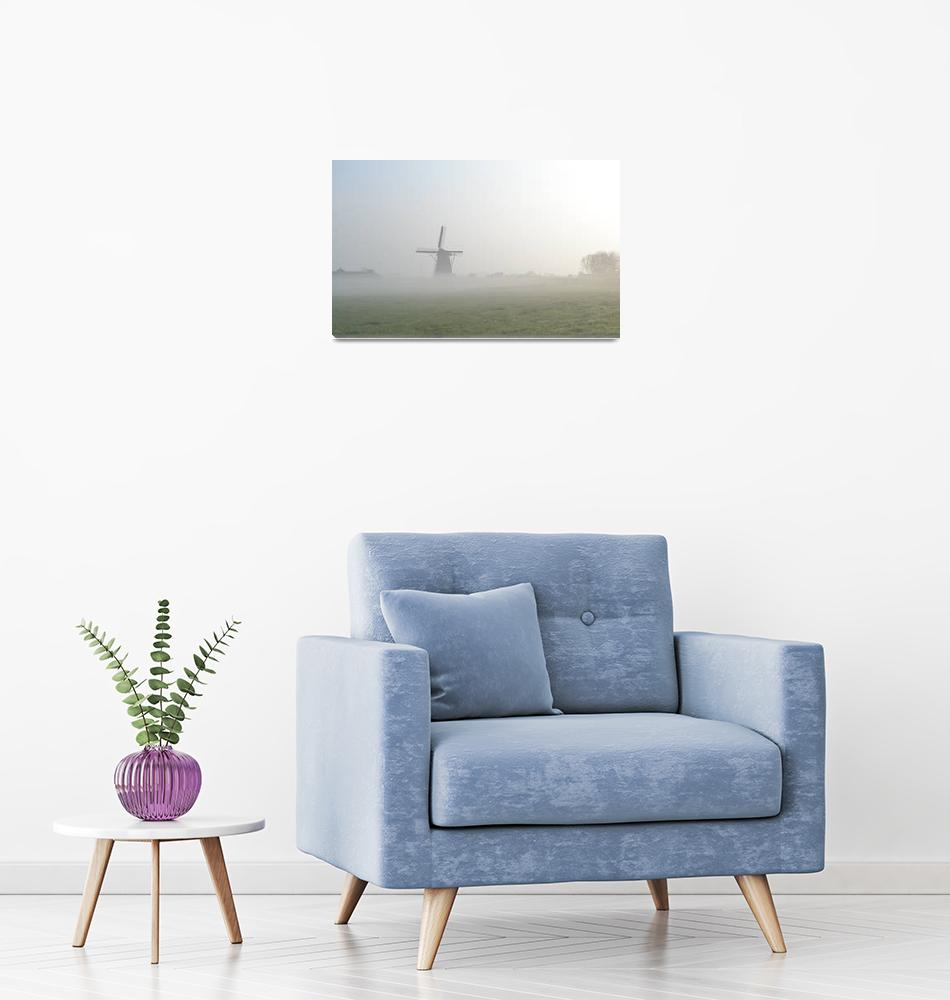"""""Windmill Morning, Nederland"" #1042415.0032 (2)""  (2015) by achimkrasenbrinkart"