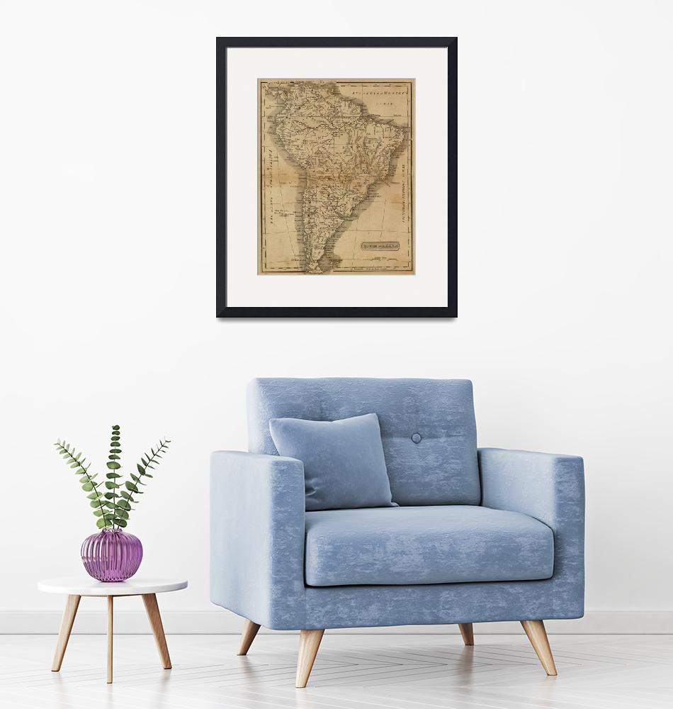 """Vintage Map of South America (1825)""  by Alleycatshirts"
