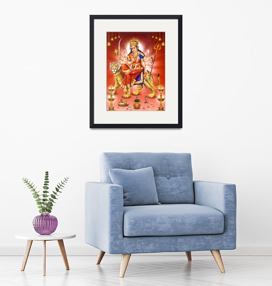 """""""Goddess Durga Hindu Gods and Goddesses Posters""""  (1994) by Maggy"""