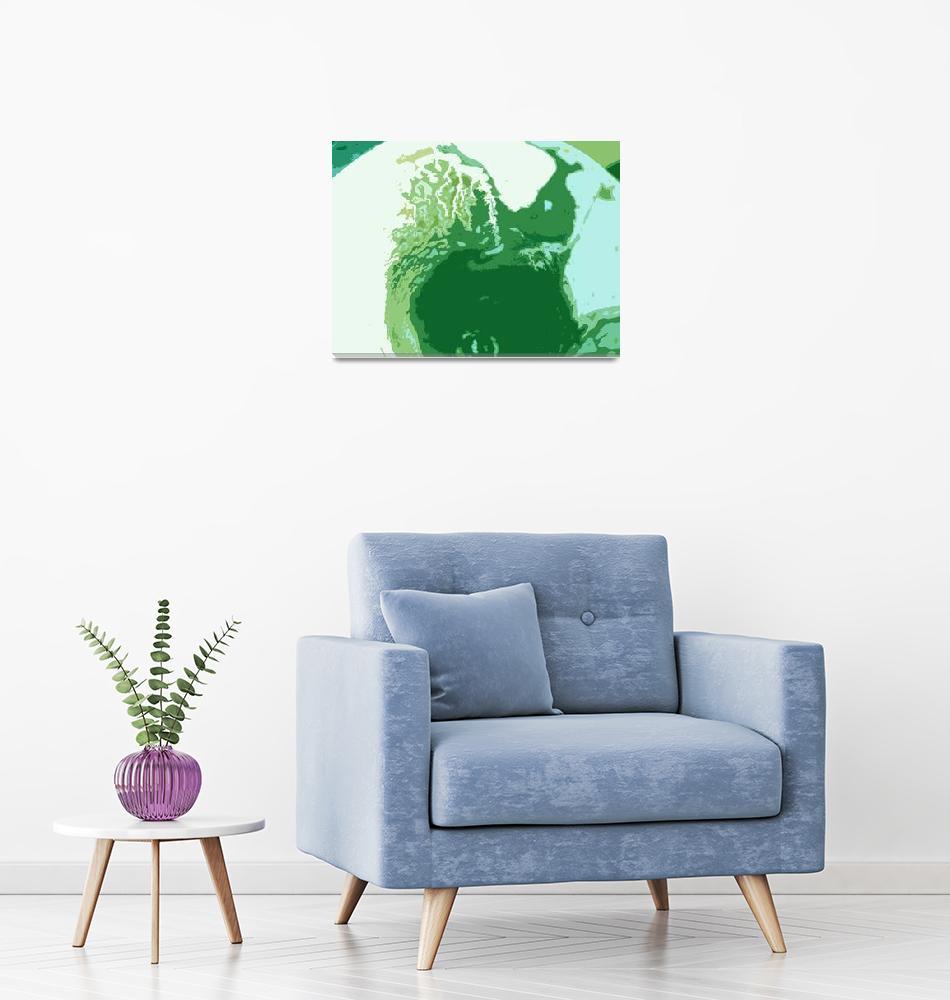 """green wall art""  (2013) by Lucine"