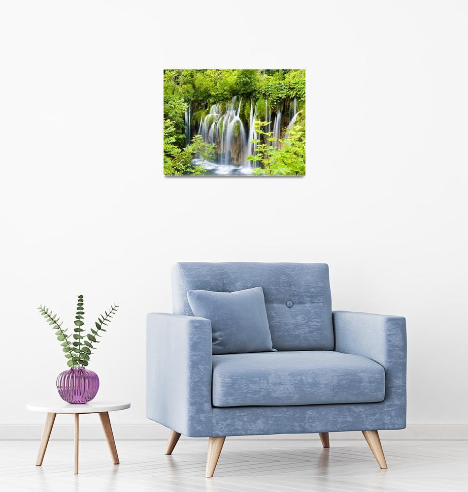 """Plitvice Waterfall""  (2016) by raetucker"