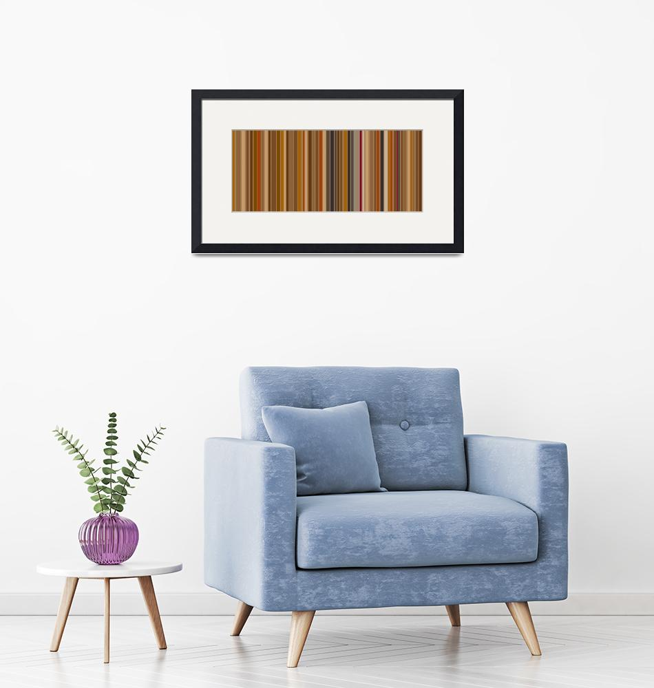 """Mocha Bean Stripes: Abstract"" by karynlewis"