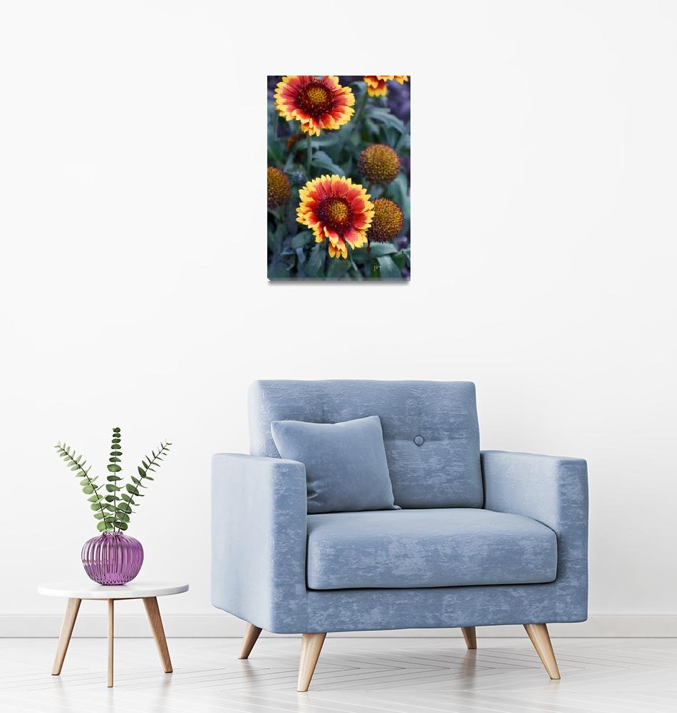 """""""Inspired Flowers"""" (2021) by mjacedesigns"""