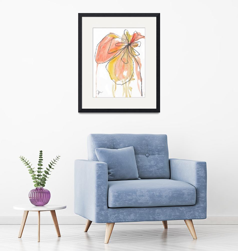 """""""Coral Pink Modern Botanical""""  (2018) by TuesdayMoon"""