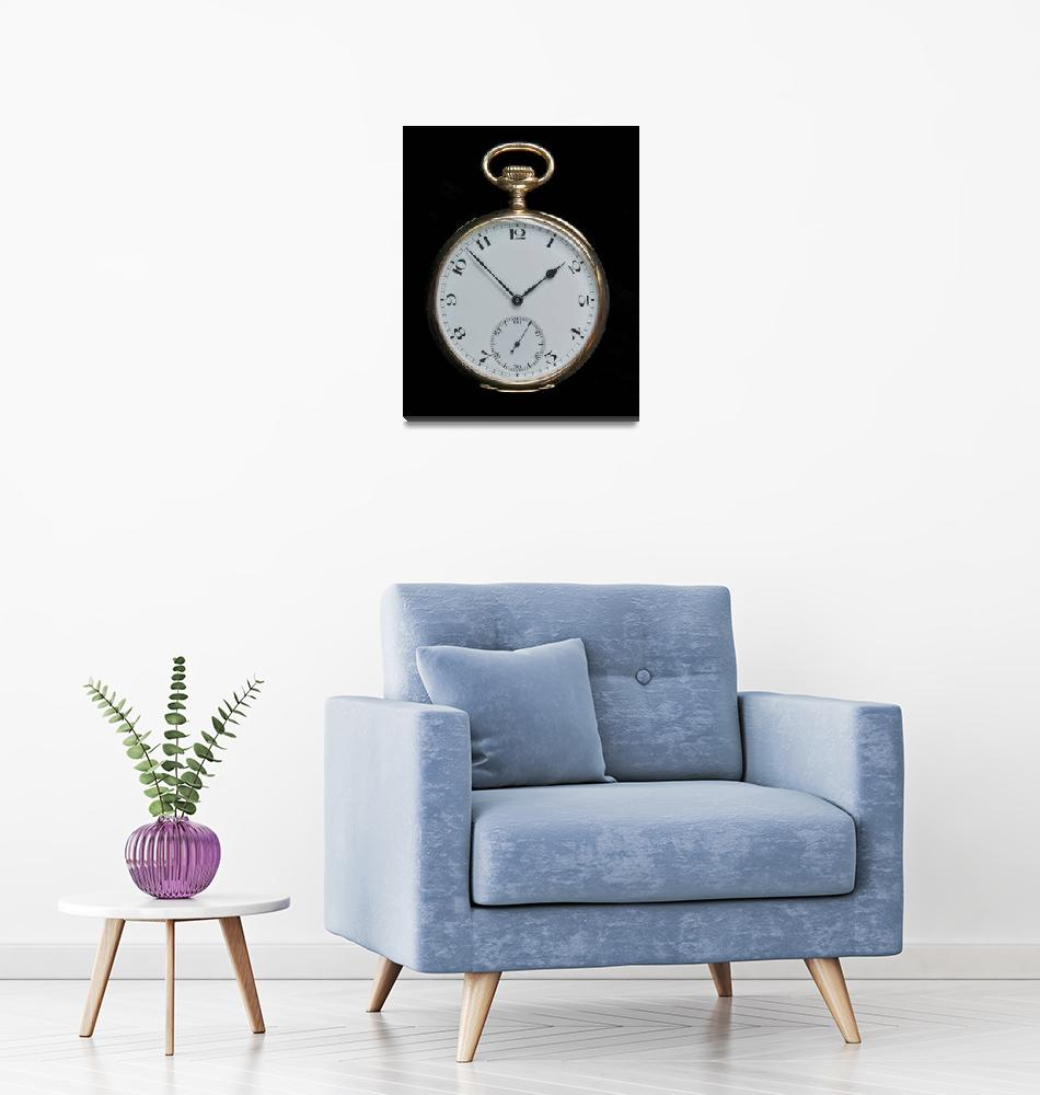 """""""Vintage Gold Pocket Watch""""  (2009) by ImageArt-Photography"""