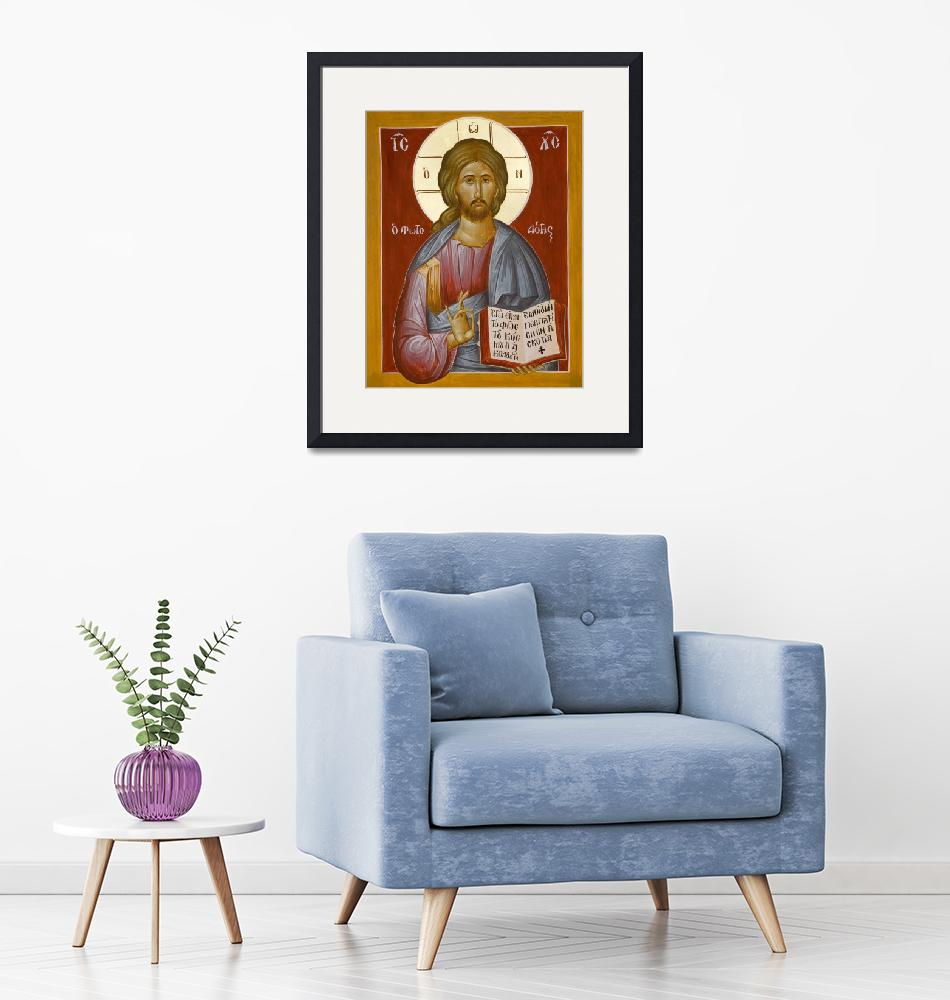 """""""Christ the Lightgiver""""  (2013) by ikonographics"""
