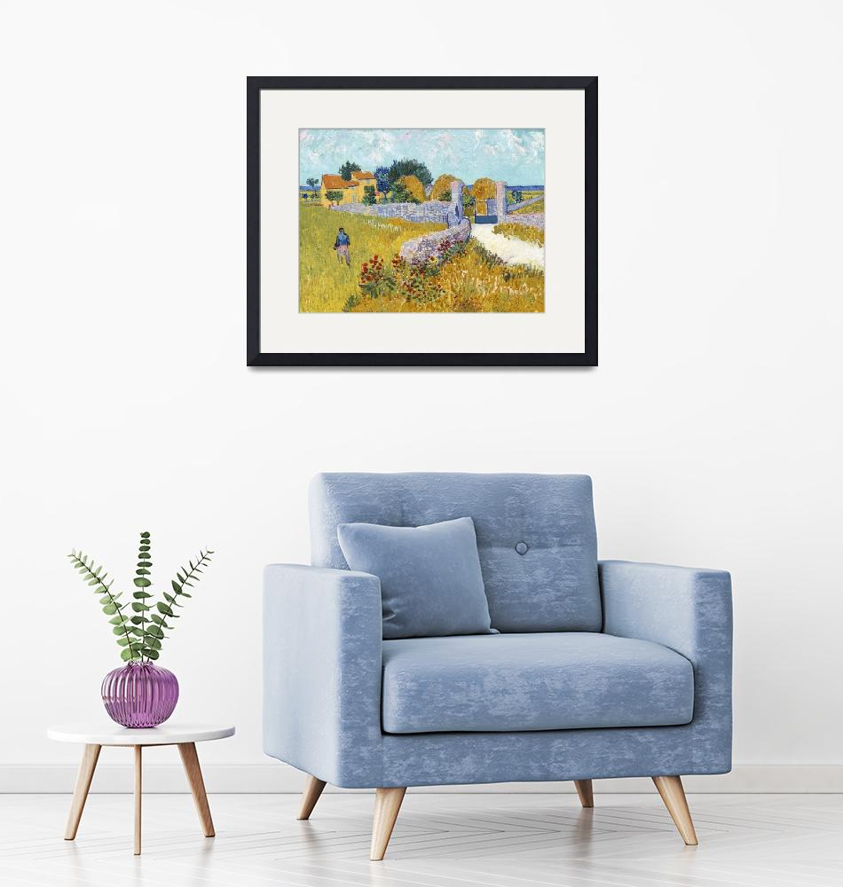"""Farmhouse in Provence by Van Gogh"" by FineArtClassics"