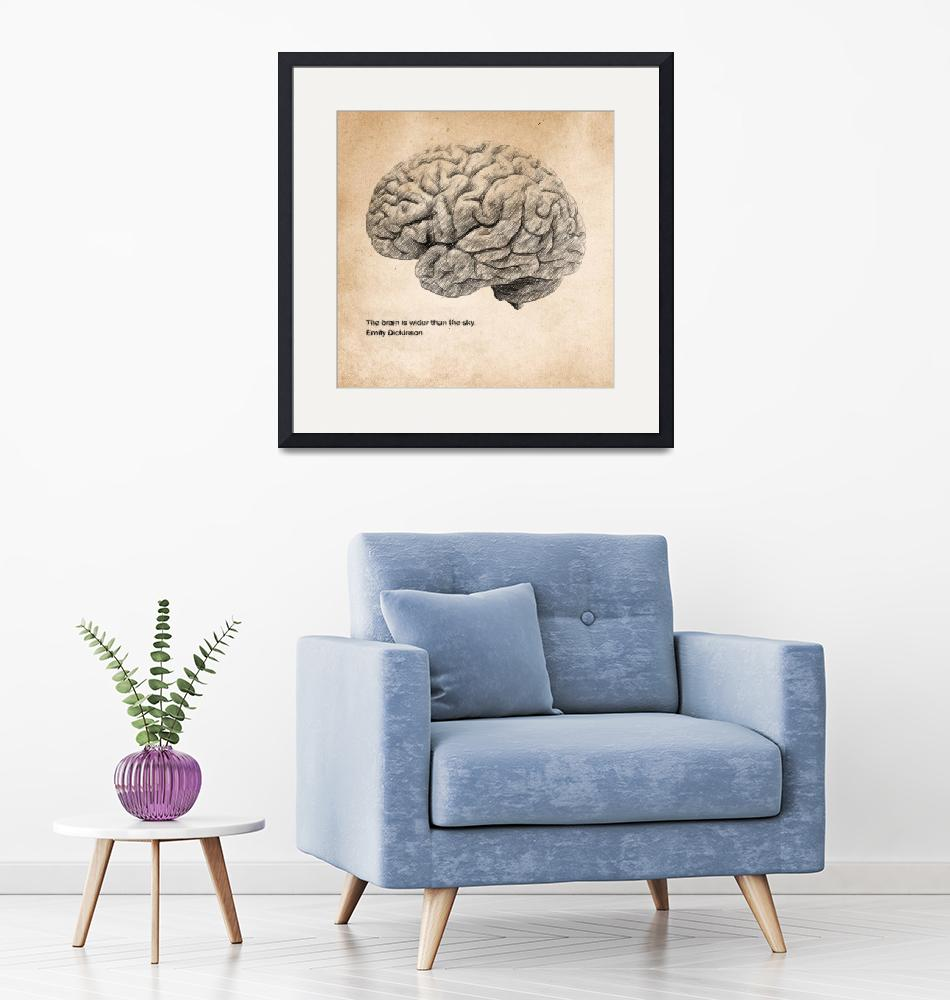 """""""The brain is wider than the sky""""  (2018) by taylansoyturk"""