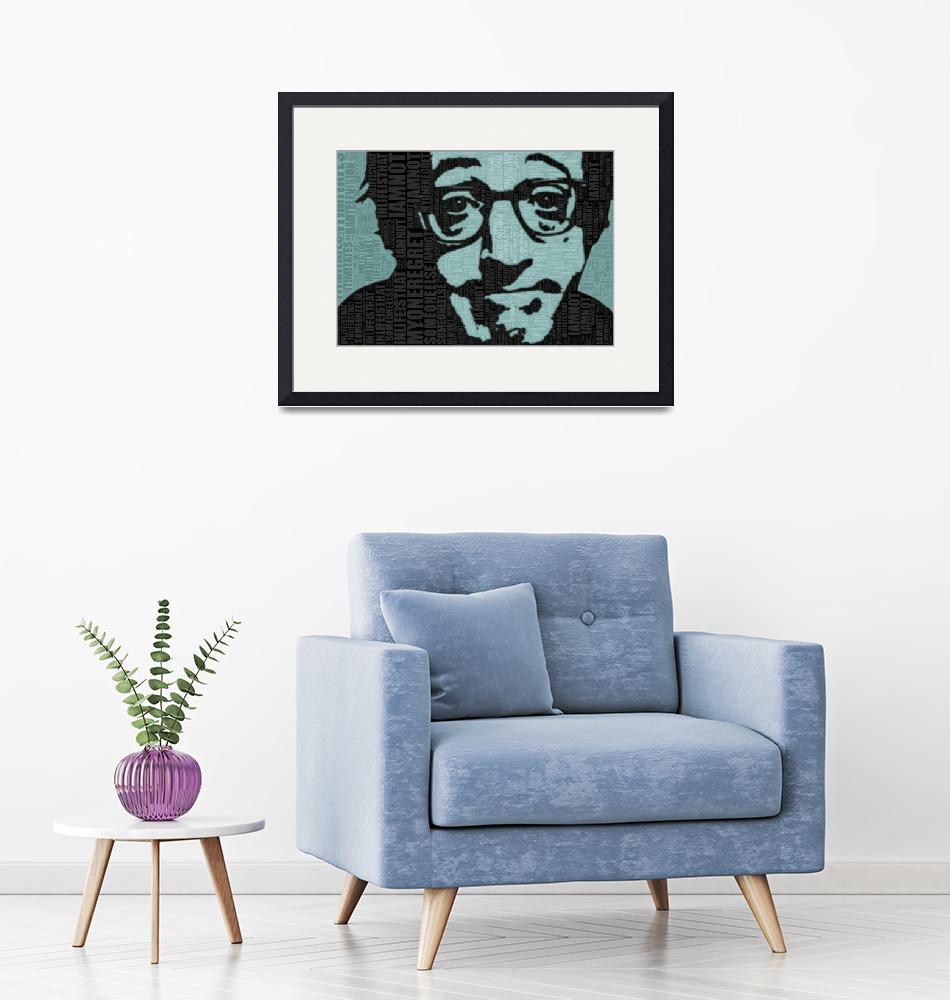 """""""Woody Allen and Quotes""""  (2013) by RubinoFineArt"""
