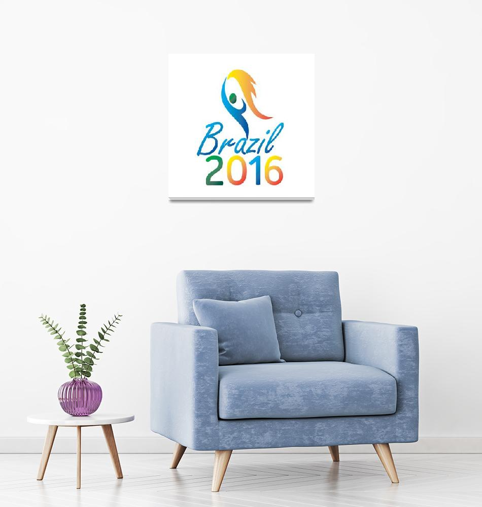 """Brasil 2016 Summer Games Flaming Torch""  (2015) by patrimonio"