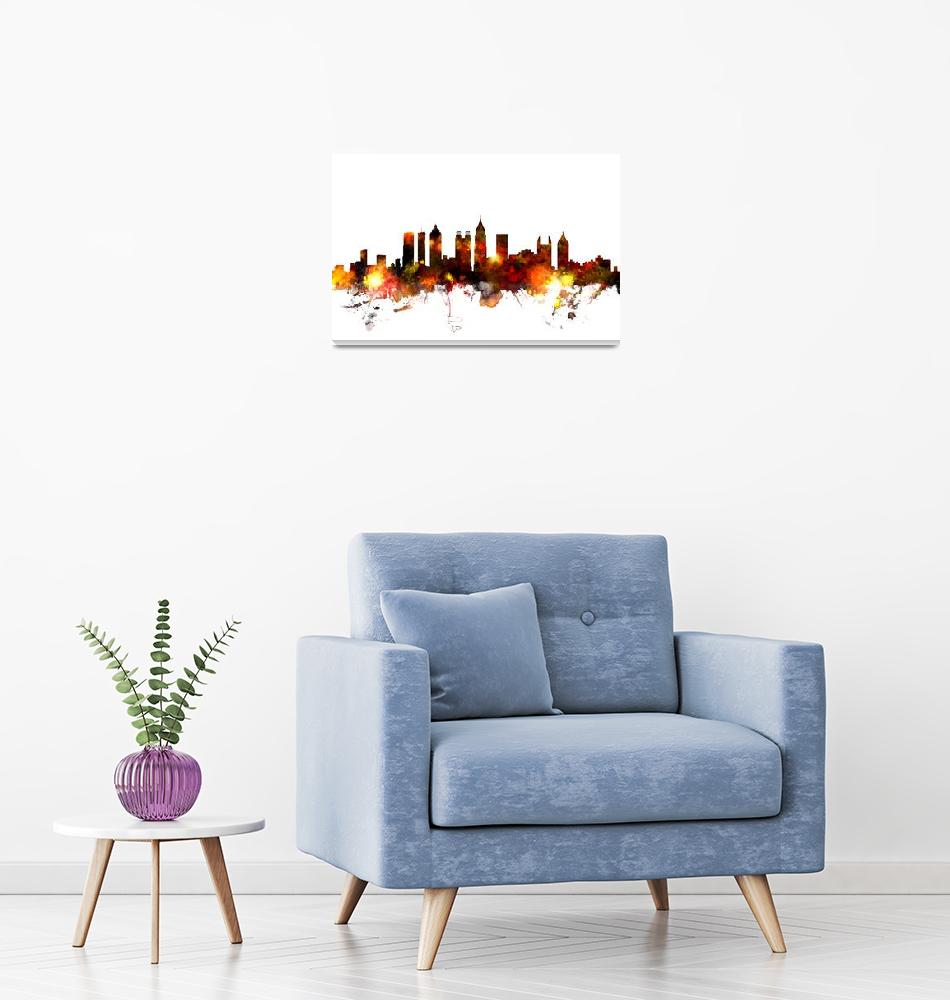 """Atlanta Georgia Skyline""  (2015) by ModernArtPrints"
