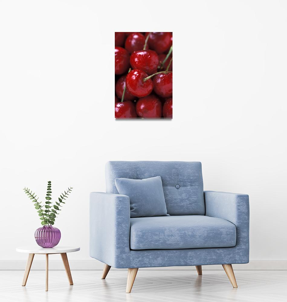 """""""Red Cherries""""  by Alleycatshirts"""