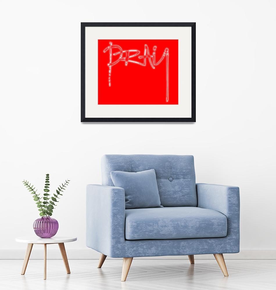 """""""pray glow white on red""""  by lizmix"""