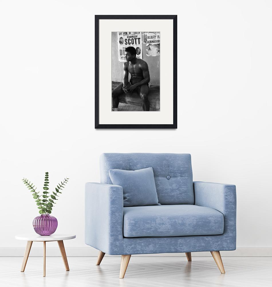 """Muhammad Ali sitting and relaxing""  by RetroImagesArchive"