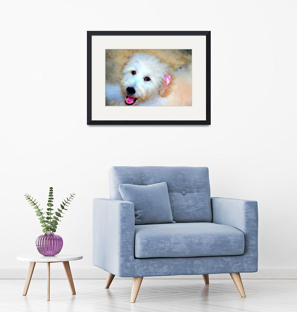 """""""Delilah the Doodle Dog""""  (2012) by lisaarundale"""