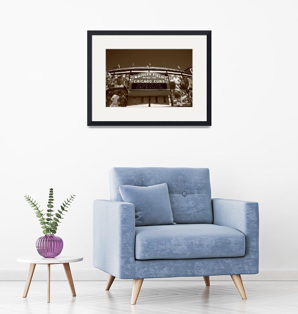 """Wrigley Field - Chicago Cubs""  (2010) by Ffooter"