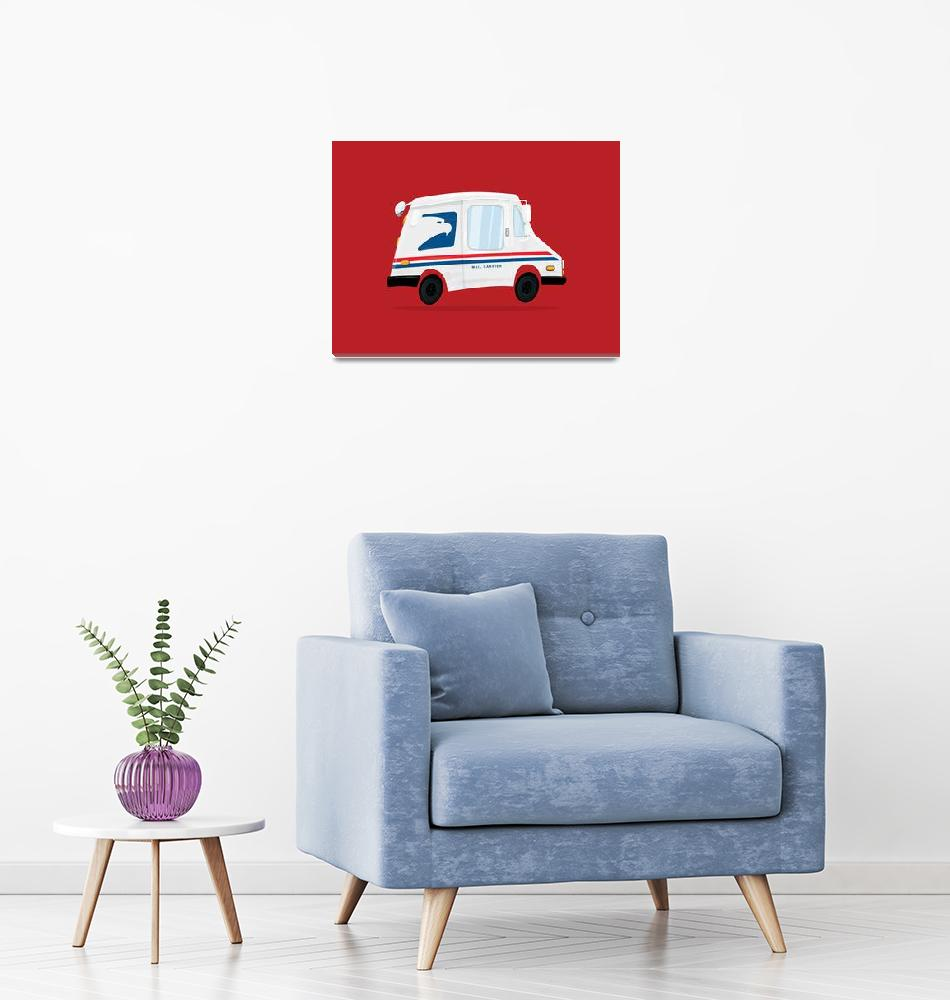 """""""Cute Mail Truck""""  (2017) by nathanpoland"""
