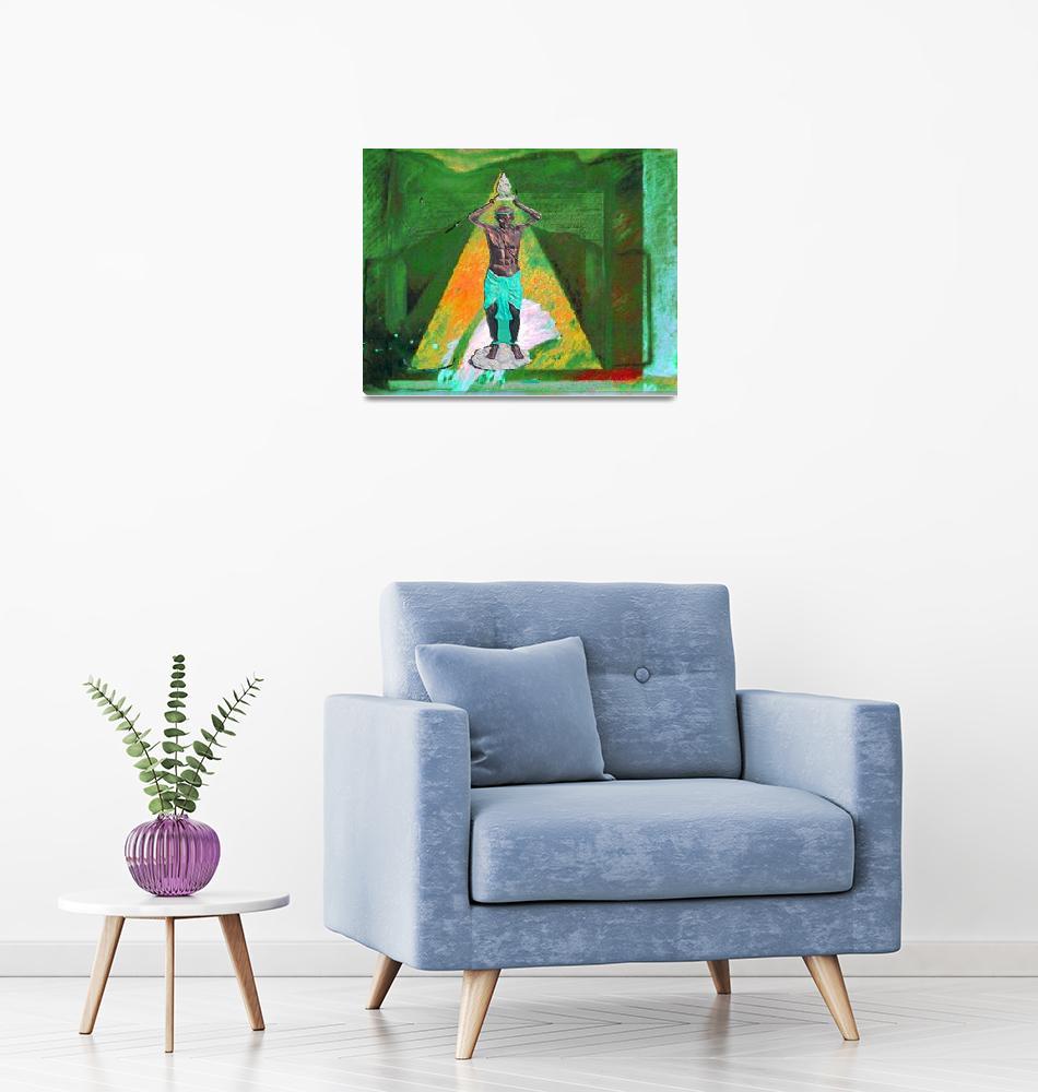"""eleggua piramide""  (2008) by AFROFUSION"
